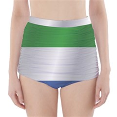 Flag Of Sierra Leone High-Waisted Bikini Bottoms