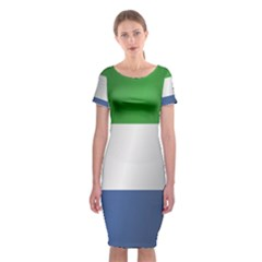 Flag Of Sierra Leone Classic Short Sleeve Midi Dress
