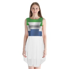 Flag Of Sierra Leone Sleeveless Chiffon Dress