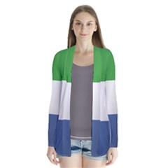 Flag Of Sierra Leone Drape Collar Cardigan