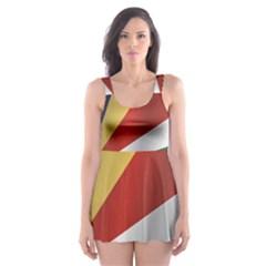 Flag Of Seychelles Skater Dress Swimsuit