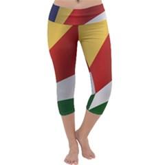 Flag Of Seychelles Capri Yoga Leggings