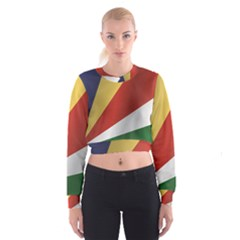 Flag Of Seychelles Women s Cropped Sweatshirt