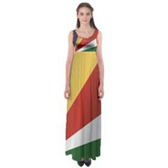 Flag Of Seychelles Empire Waist Maxi Dress