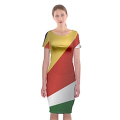 Flag Of Seychelles Classic Short Sleeve Midi Dress