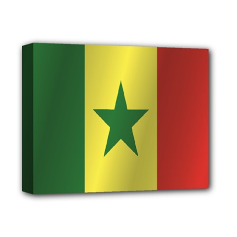 Flag Of Senegal Deluxe Canvas 14  x 11