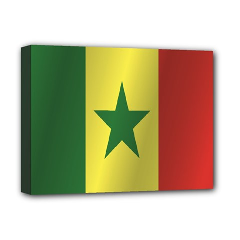 Flag Of Senegal Deluxe Canvas 16  x 12
