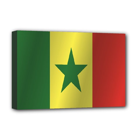 Flag Of Senegal Deluxe Canvas 18  x 12