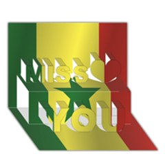 Flag Of Senegal Miss You 3D Greeting Card (7x5)