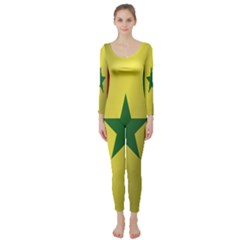 Flag Of Senegal Long Sleeve Catsuit