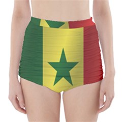Flag Of Senegal High-Waisted Bikini Bottoms
