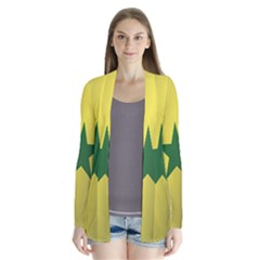 Flag Of Senegal Drape Collar Cardigan