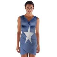 Flag Of Somalia Wrap Front Bodycon Dress