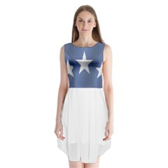Flag Of Somalia Sleeveless Chiffon Dress