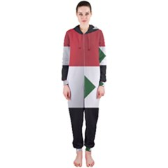 Flag Of Sudan Hooded Jumpsuit (Ladies)