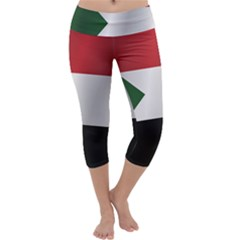 Flag Of Sudan Capri Yoga Leggings