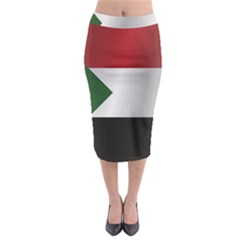 Flag Of Sudan Midi Pencil Skirt