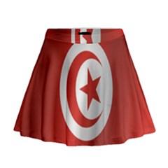 Flag Of Tunisia Mini Flare Skirt