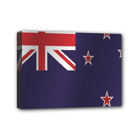 Flag Of New Zealand Mini Canvas 7  x 5