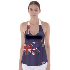 Flag Of New Zealand Babydoll Tankini Top