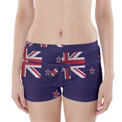 Flag Of New Zealand Boyleg Bikini Wrap Bottoms