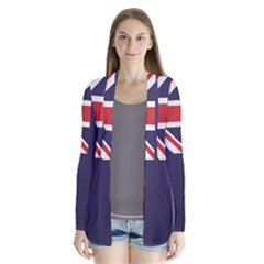 Flag Of New Zealand Drape Collar Cardigan