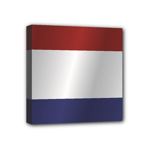 Flag Of Netherlands Mini Canvas 4  x 4