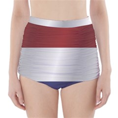 Flag Of Netherlands High-Waisted Bikini Bottoms