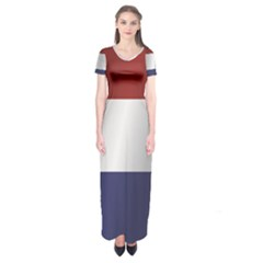 Flag Of Netherlands Short Sleeve Maxi Dress