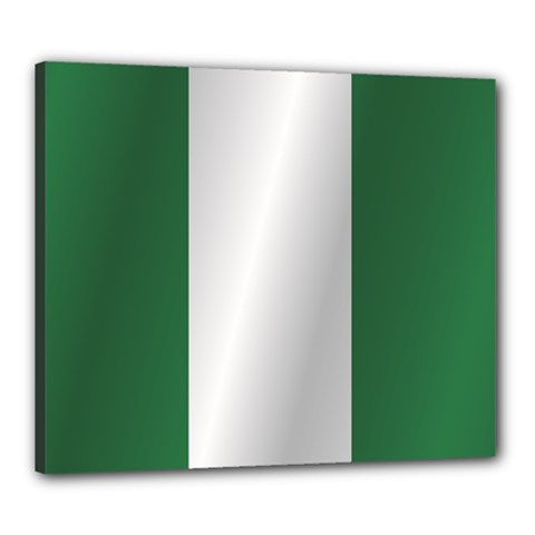 Flag Of Nigeria Canvas 24  x 20