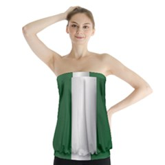Flag Of Nigeria Strapless Top