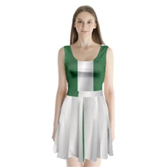 Flag Of Nigeria Split Back Mini Dress
