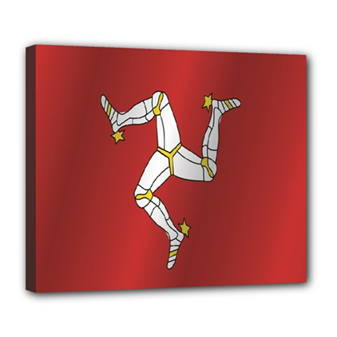 Flag Of Isle Of Man Deluxe Canvas 24  x 20