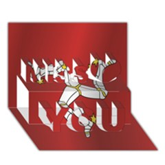 Flag Of Isle Of Man Miss You 3D Greeting Card (7x5)