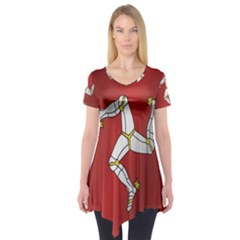Flag Of Isle Of Man Short Sleeve Tunic