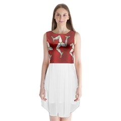 Flag Of Isle Of Man Sleeveless Chiffon Dress