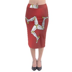 Flag Of Isle Of Man Midi Pencil Skirt