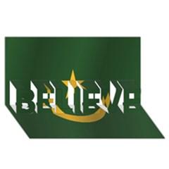 Flag Of Mauritania BELIEVE 3D Greeting Card (8x4)