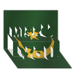 Flag Of Mauritania Miss You 3D Greeting Card (7x5)