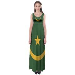 Flag Of Mauritania Empire Waist Maxi Dress