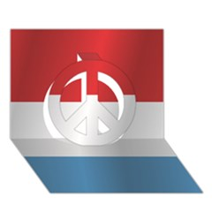 Flag Of Luxembourg Peace Sign 3D Greeting Card (7x5)