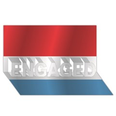 Flag Of Luxembourg ENGAGED 3D Greeting Card (8x4)