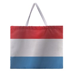 Flag Of Luxembourg Zipper Large Tote Bag