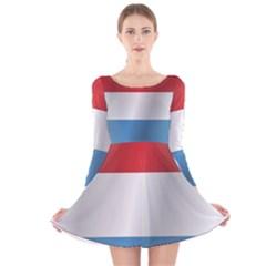 Flag Of Luxembourg Long Sleeve Velvet Skater Dress