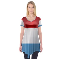Flag Of Luxembourg Short Sleeve Tunic