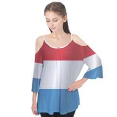 Flag Of Luxembourg Flutter Tees