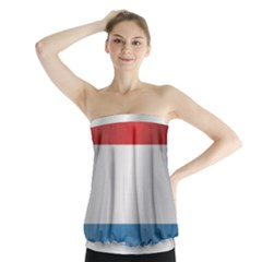 Flag Of Luxembourg Strapless Top