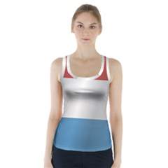 Flag Of Luxembourg Racer Back Sports Top