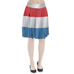 Flag Of Luxembourg Pleated Skirt