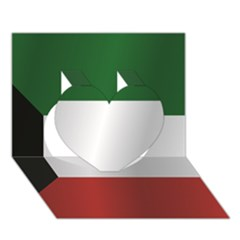 Flag Of Kuwait Heart 3D Greeting Card (7x5)